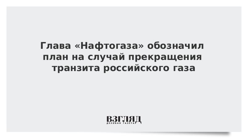 Глава «Нафтогаза» обозначил план на случай прекращения транзита российского газа