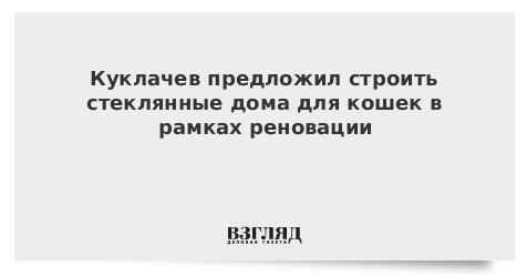 Куклачев предложил строить стеклянные дома для кошек в рамках реновации