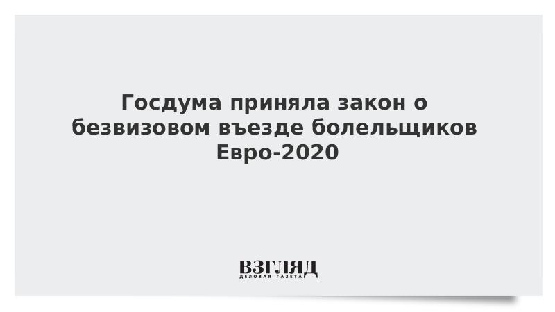 Госдума приняла закон о безвизовом въезде болельщиков Евро-2020