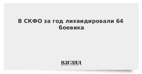 В СКФО за год ликвидировали 64 боевика