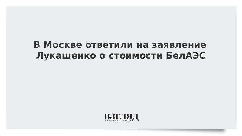 В Москве ответили на заявление Лукашенко о стоимости БелАЭС