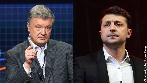 Начались дебаты Порошенко и Зеленского