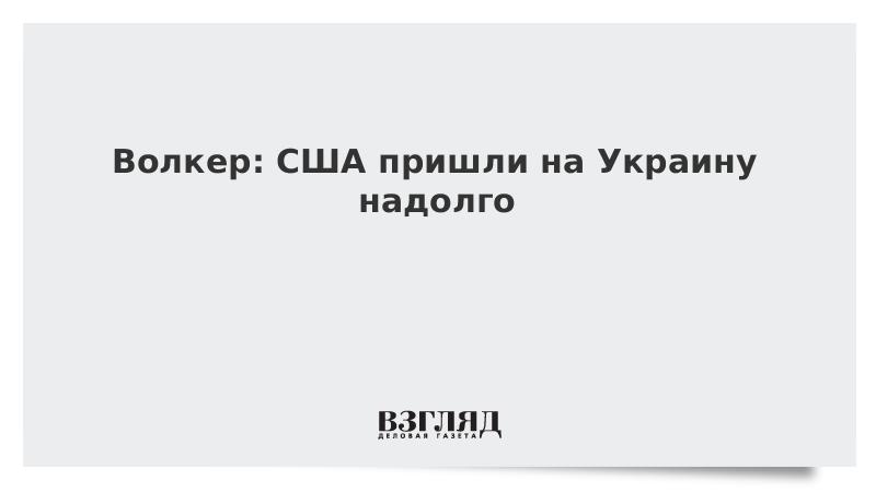 Волкер: США пришли на Украину надолго