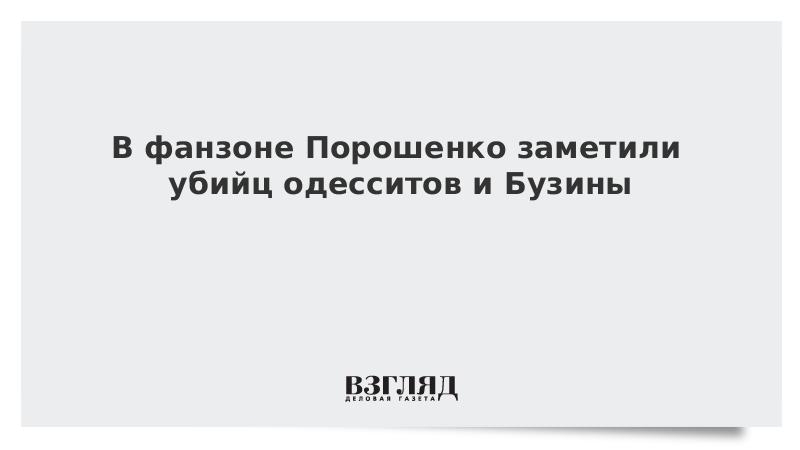 В фанзоне Порошенко заметили убийц одесситов и Бузины