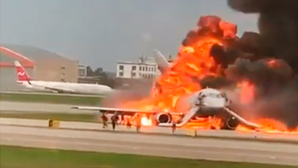 «Суперджет» сгорел при посадке