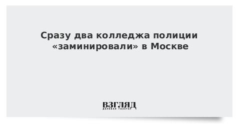 Сразу два колледжа полиции «заминировали» в Москве