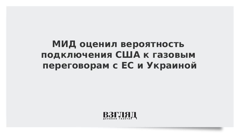 МИД оценил вероятность подключения США к газовым переговорам с ЕС и Украиной