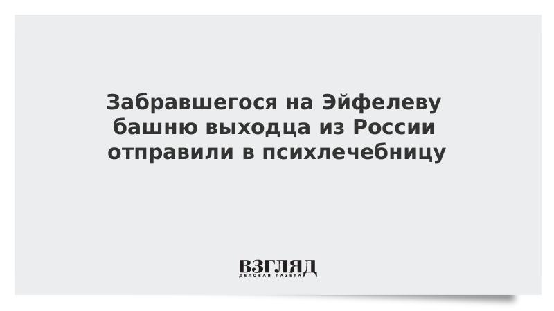 Забравшегося на Эйфелеву башню выходца из России отправили в психлечебницу