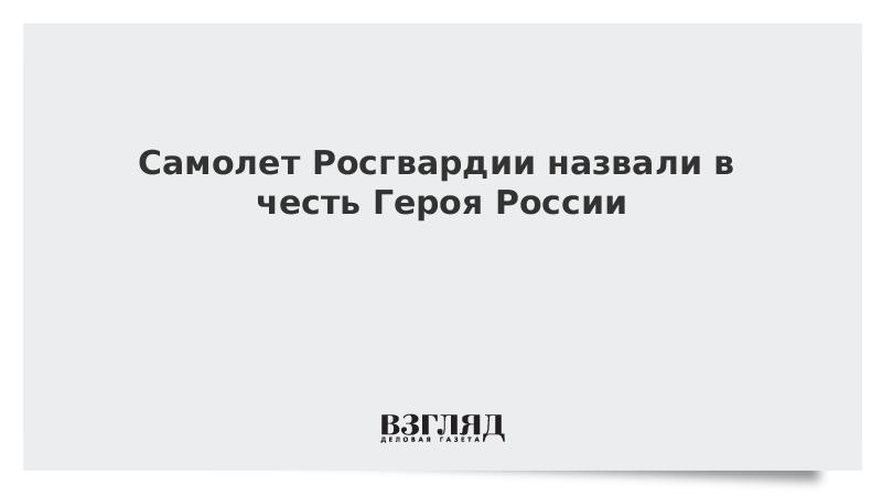 Самолет Росгвардии назвали в честь Героя России