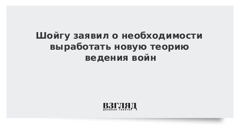 Шойгу заявил о необходимости выработать новую теорию ведения войн