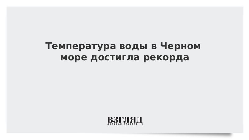 Температура воды в Черном море достигла рекорда