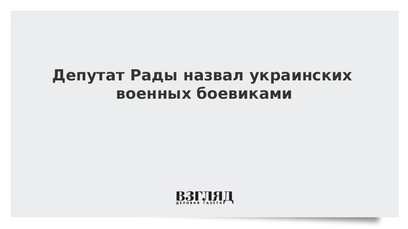 Депутат Рады назвал украинских военных боевиками