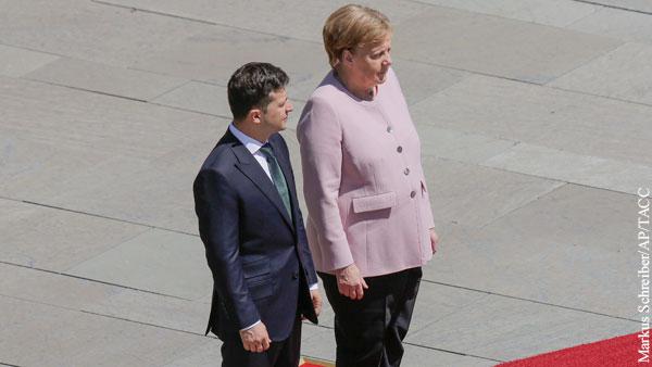 В бундестаге назвали приступ Меркель на встрече с Зеленским «правом на слабость»