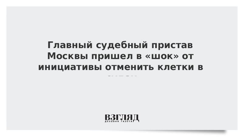 Главный судебный пристав Москвы пришел в «шок» от инициативы отменить клетки в судах