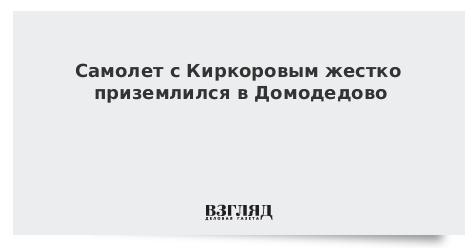 Самолет с Киркоровым жестко приземлился в Домодедово