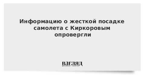 Информацию о жесткой посадке самолета с Киркоровым опровергли