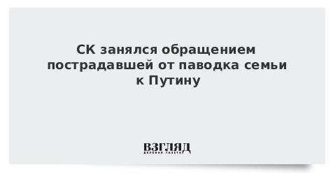 СК занялся обращением пострадавшей от паводка семьи к Путину