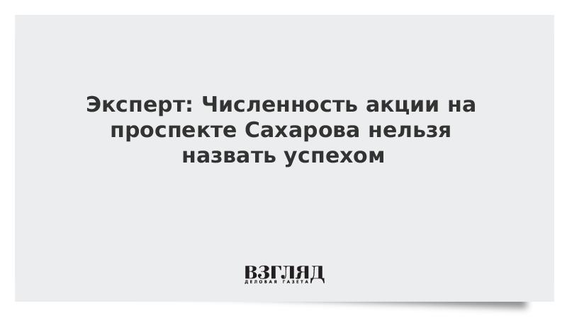 Эксперт: Численность акции на проспекте Сахарова нельзя назвать успехом