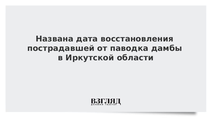 Названа дата восстановления пострадавшей от паводка дамбы в Иркутской области
