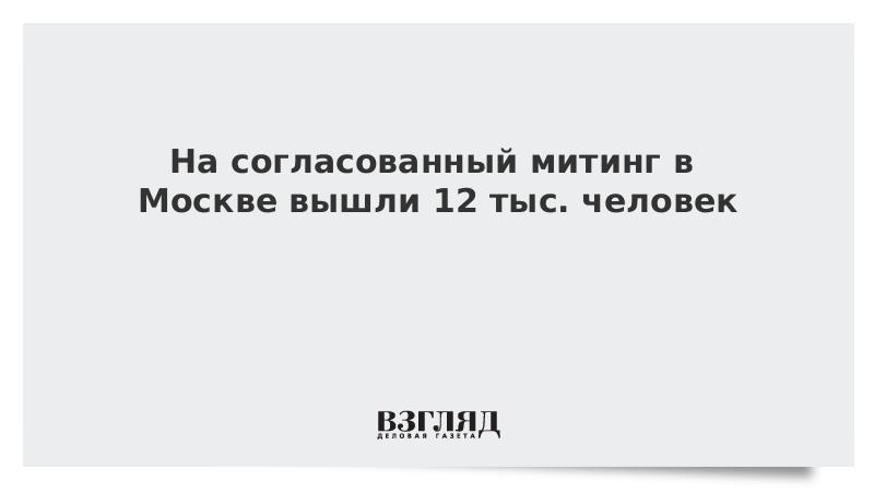 На согласованный митинг в Москве вышли 12 тыс. человек