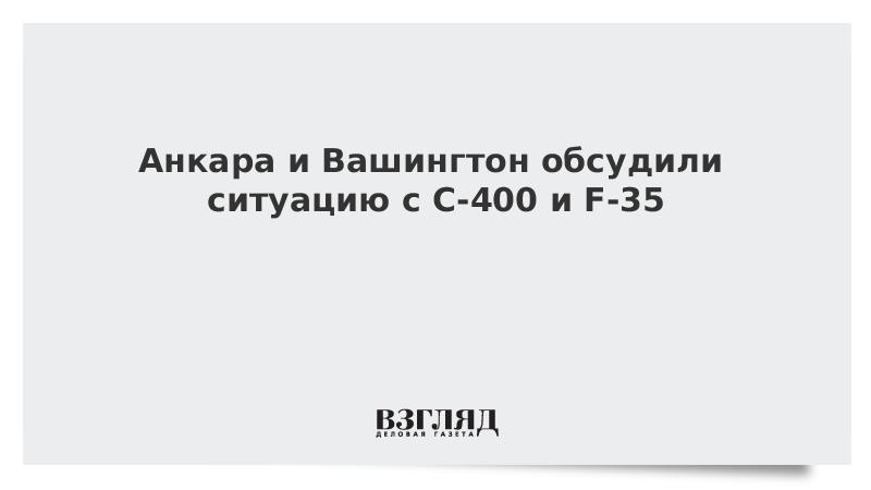 Анкара и Вашингтон обсудили ситуацию с С-400 и F-35