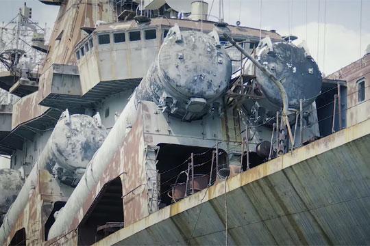 Зеленский продемонстрировал ужасное состояние крейсера «Украина»