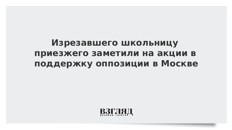 Изрезавшего школьницу приезжего заметили на акции в поддержку оппозиции в Москве