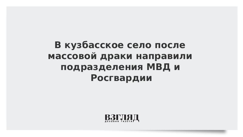 В кузбасское село после массовой драки направили подразделения МВД и Росгвардии