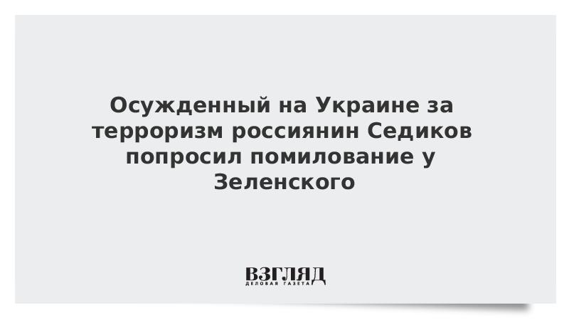 Осужденный на Украине за терроризм россиянин Седиков попросил помилование у Зеленского