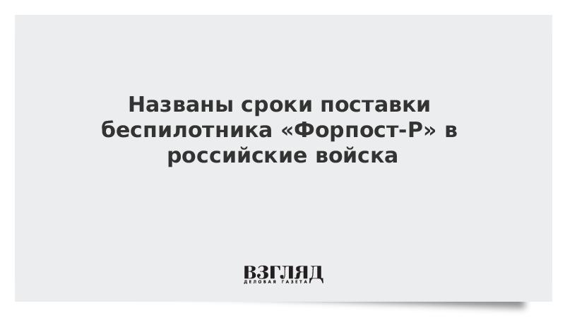 Названы сроки поставки беспилотника «Форпост-Р» в российские войска