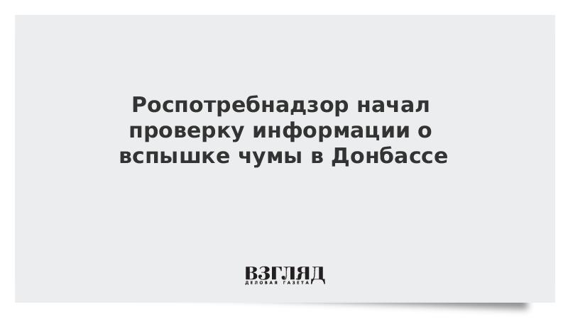 Роспотребнадзор начал проверку информации о вспышке чумы в Донбассе