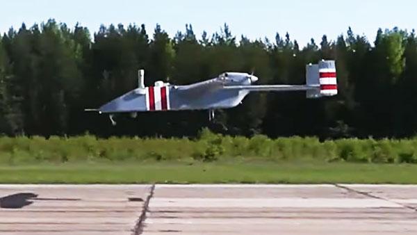 Минобороны опубликовало видео первого полета новейшего беспилотника «Форпост-Р»