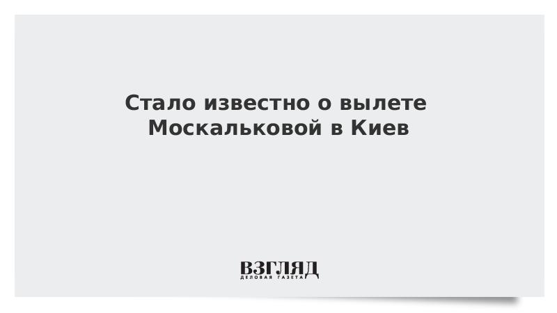 Стало известно о вылете Москальковой в Киев