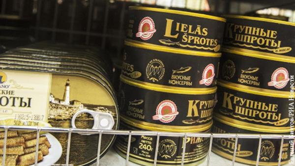 Латвия усомнилась в возобновлении поставок шпрот в Россию