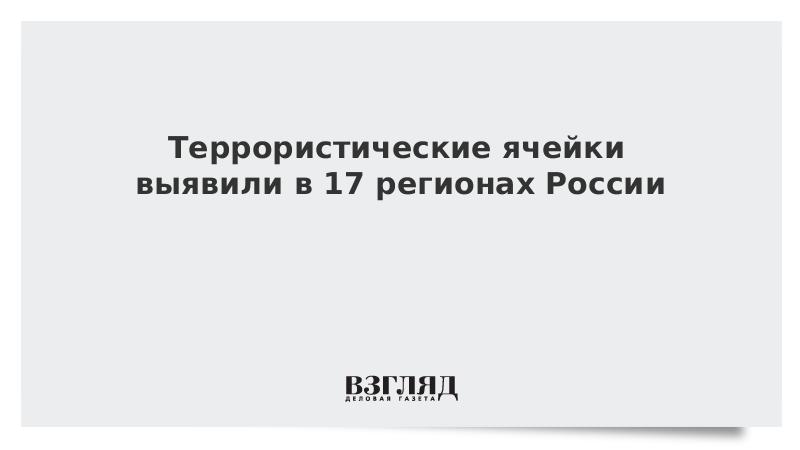 Террористические ячейки выявили в 17 регионах России